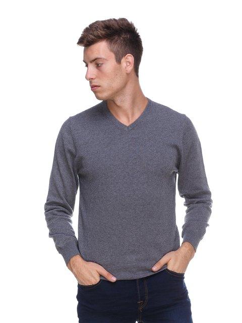 Пуловер сірий Maglierie Di Perugia 1440674