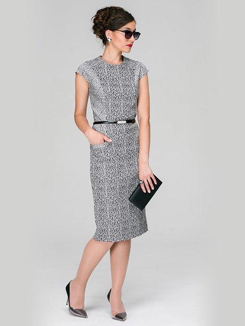 Платье серое с принтом Jet 3551483