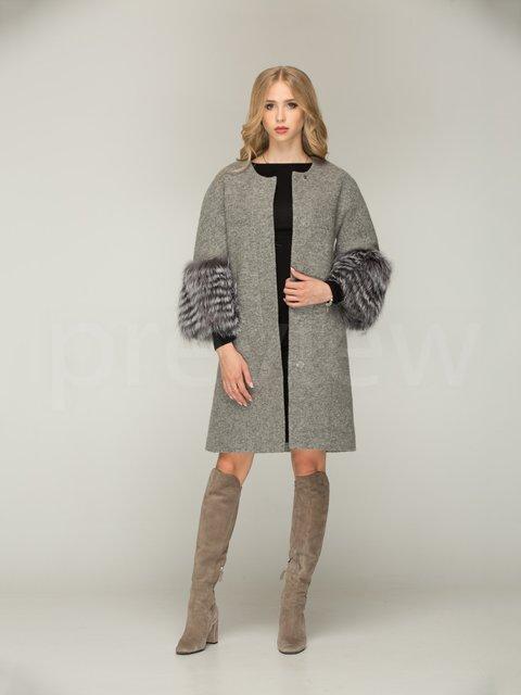 Пальто серое Mila Nova 3566470