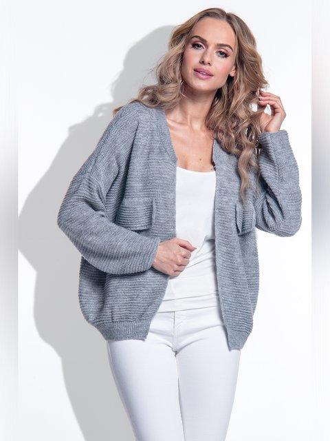 Кардиган серый fimfi 3561233
