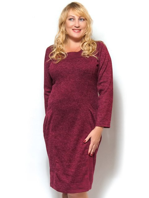 Платье бордовое LibeAmore 3572341