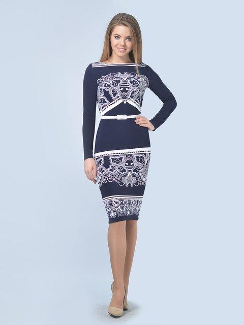 Платье сине-белое LILA KASS 3571409
