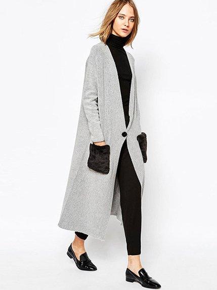 Пальто сіре Haoduoyi 3574421