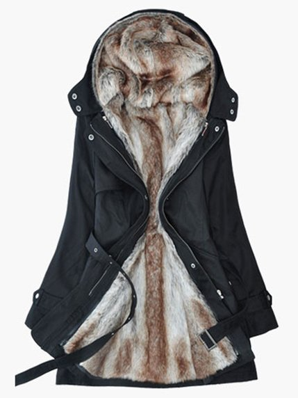Пальто черное LM Sport 3574484