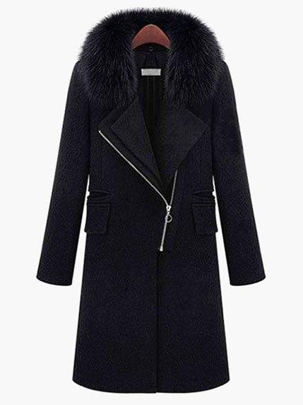 Пальто черное Fashion collection 3575179