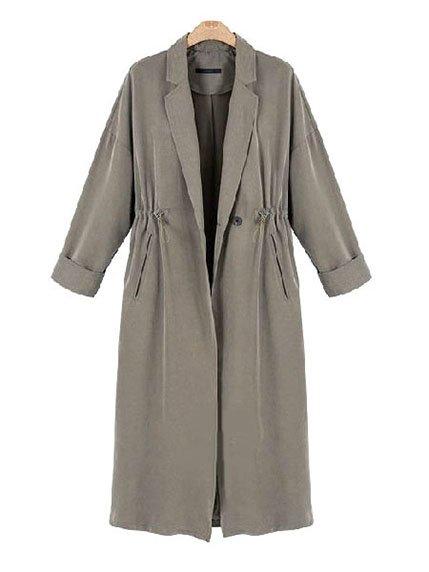 Пальто серое Maxmore 3574265