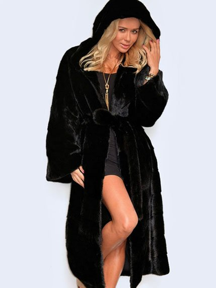 Пальто черное QIYEZHIYI 3574745