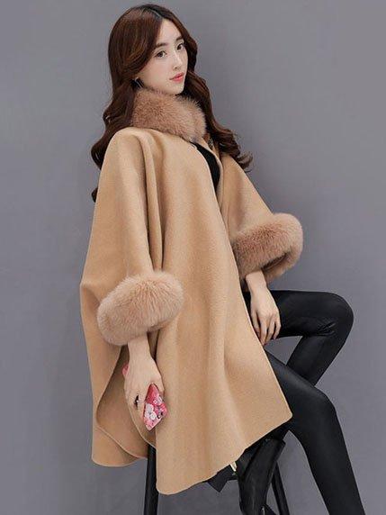 Пальто кольору кемел Tianzhilan 3575789