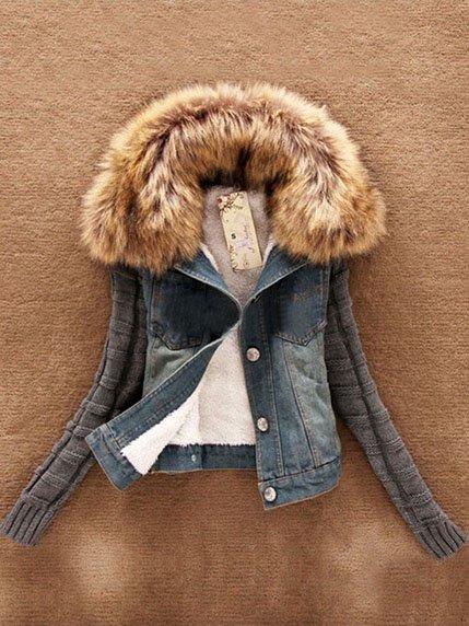 Куртка сине-серая Maxmore 3576015