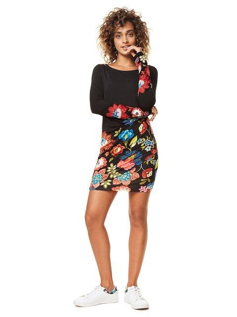 Платье черное в принт Desigual 3555636