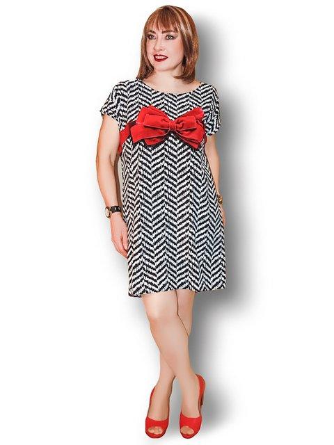Платье черно-белое с бантом LibeAmore 3491340