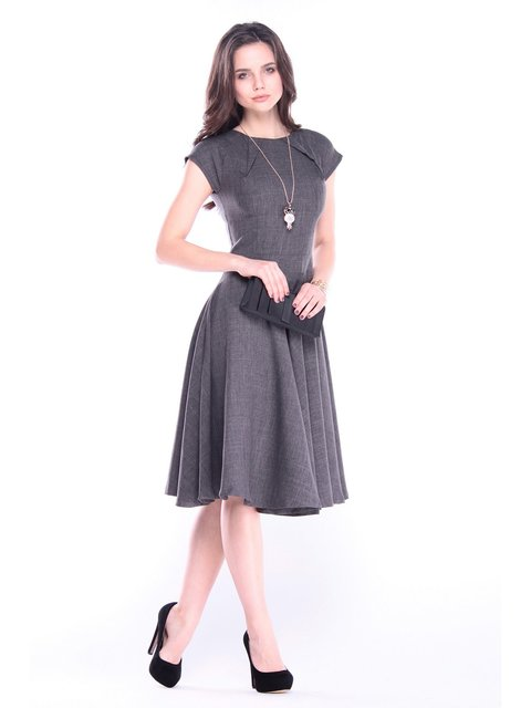 Платье графитового цвета Dioni 3062532