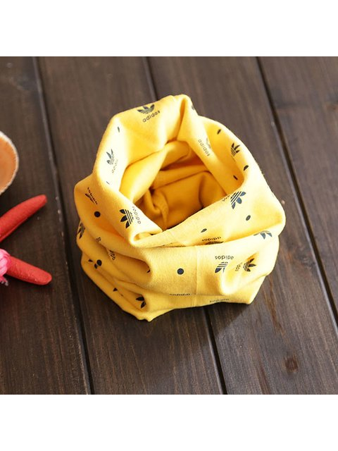 Шарф-снуд желтый в принт Top Baby 3621438