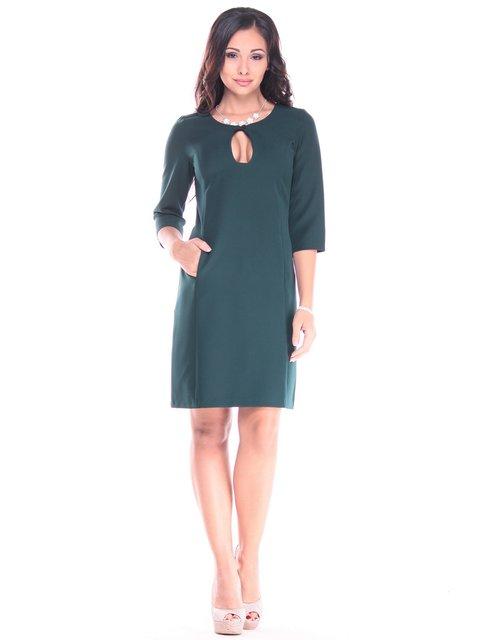 Платье темно-изумрудного цвета Rebecca Tatti 2900705