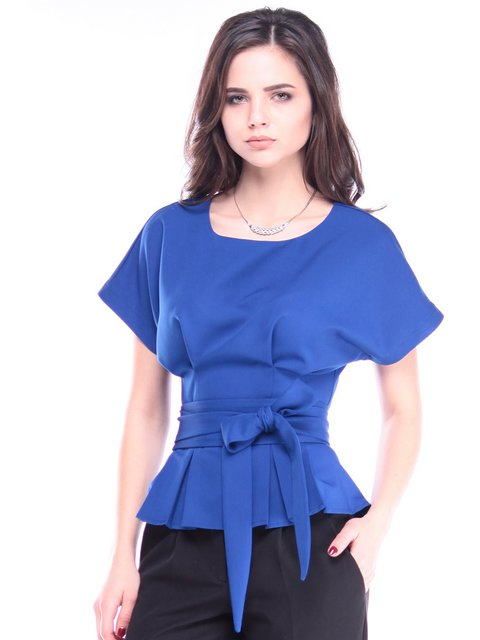 Блуза кольору електрик Laura Bettini 2962270