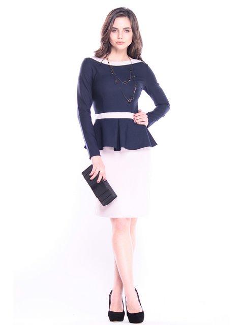 Платье сине-бежевое Rebecca Tatti 3041103