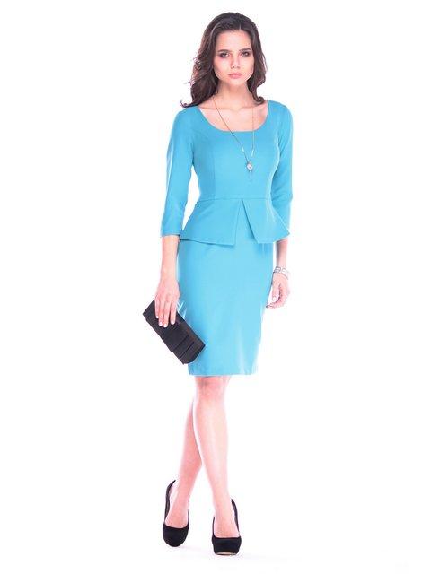 Платье цвета зеленой бирюзы Laura Bettini 3172685