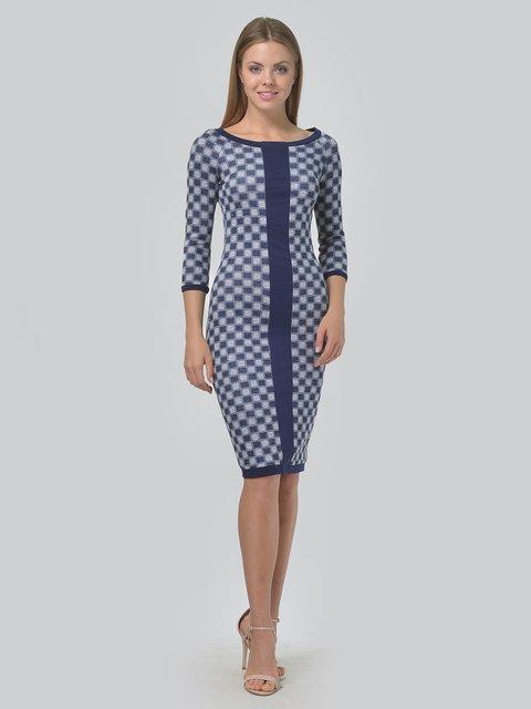 Платье темно-синее в принт LILA KASS 3621770