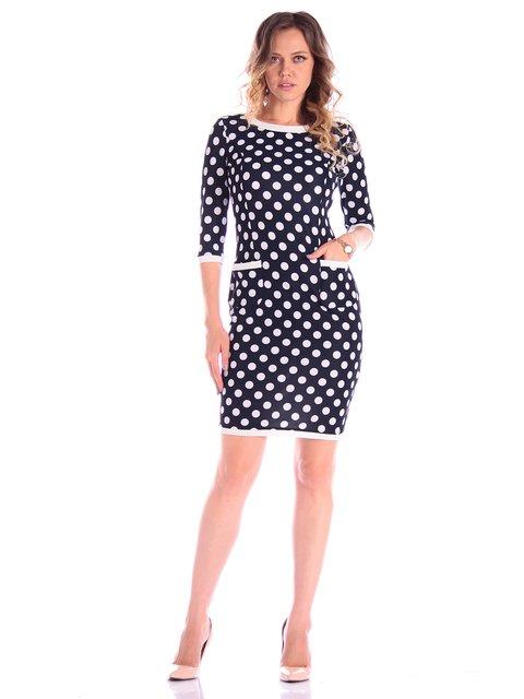 Сукня синьо-молочного кольору в горох Victoria Loks 3581107