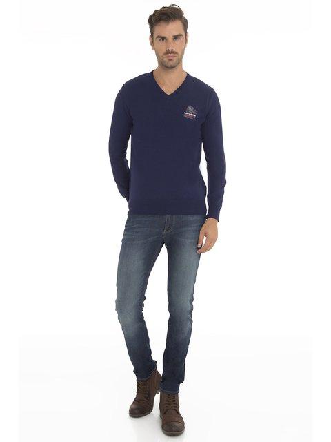 Пуловер темно-синій Culture 3634779