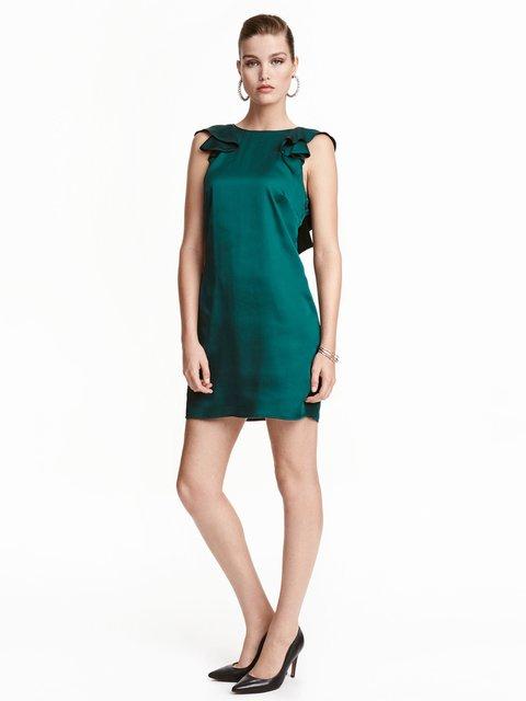 Платье темно-зеленое H&M 3431119