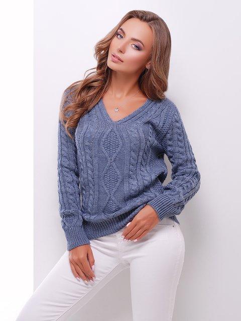 Пуловер світло-синій MarSe 3637791