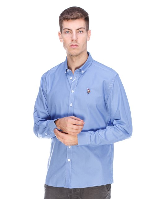 Сорочка блакитна U.S. Polo Assn. 3623669