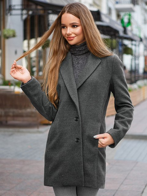 Пальто серое Gepur 3649655