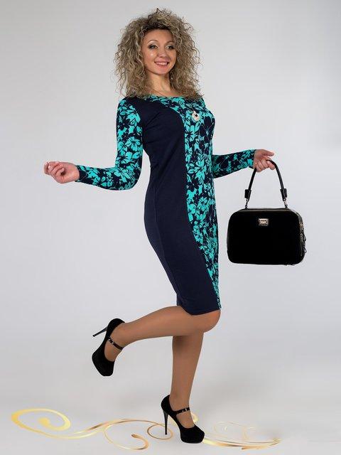 Платье синее в принт Seventeen 3546370