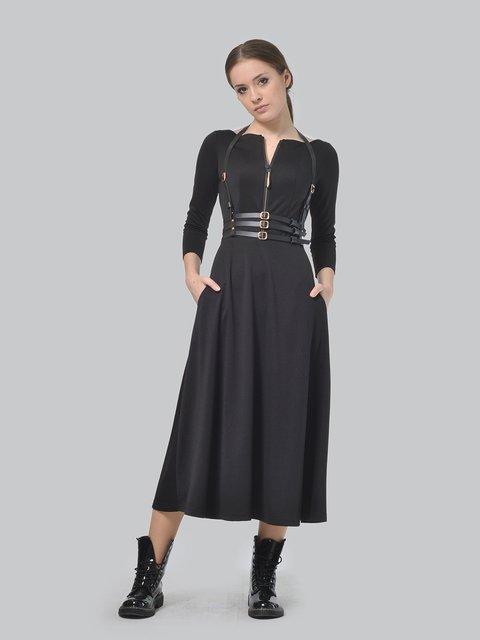 Платье черное с портупеей AGATA WEBERS 3650826