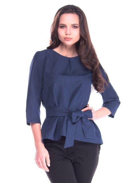 Блуза темно-синяя Rebecca Tatti 3172721