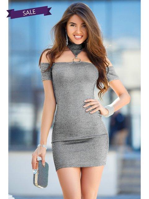 Платье серое Gepur 3344394
