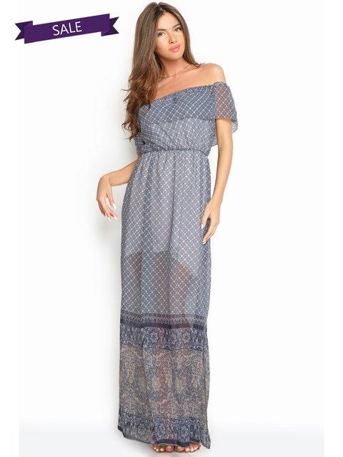 Платье синее в принт Gepur 3452230