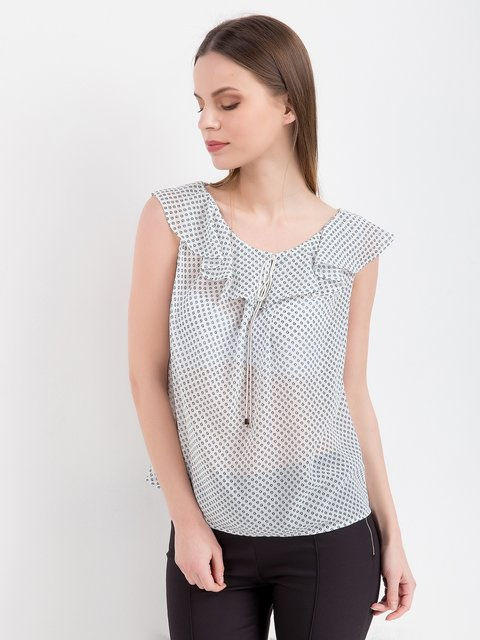 Блуза біла в принт BGN 3646612