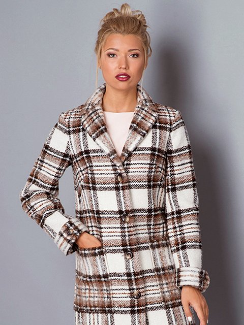 Пальто в клітинку Lesya 3167892