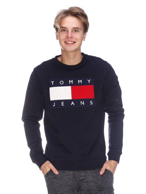 Світшот синій з принтом Tommy Hilfiger 3636173