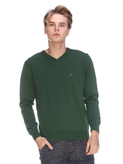 Пуловер зелений Tommy Hilfiger 3636180
