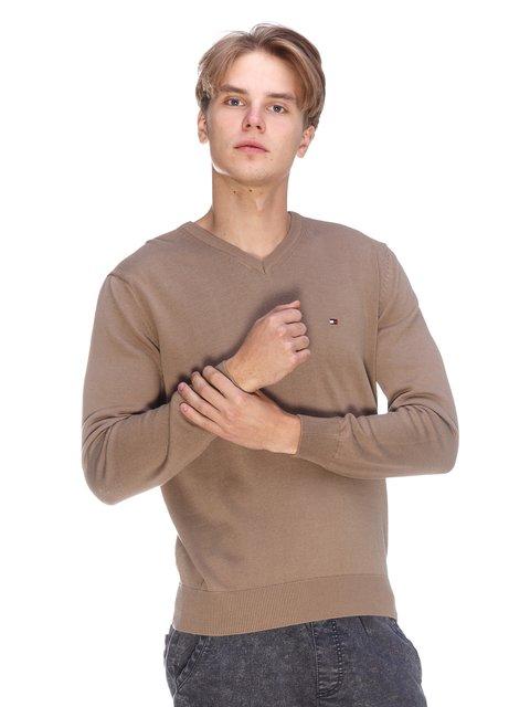 Пуловер світло-коричневий Tommy Hilfiger 3636182