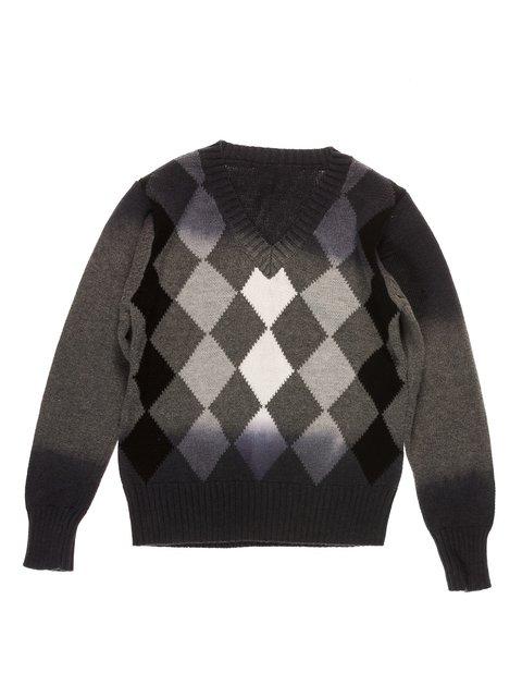Пуловер сірий в ромби De Salitto 3644759