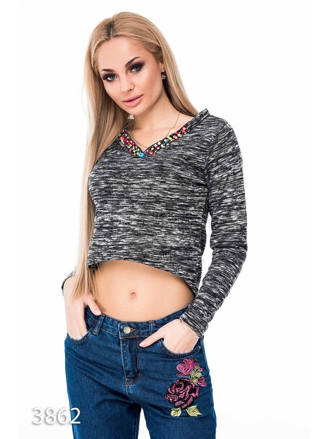Пуловер чорний Magnet 3635237