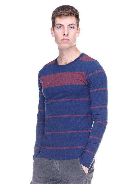 Лонгслив сине-бордовый в полоску J.Lindeberg 2146985
