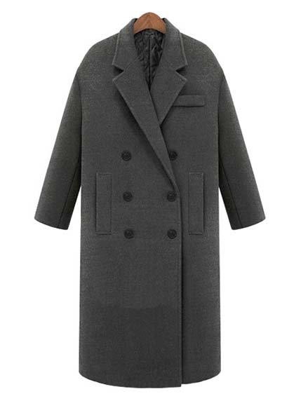Пальто серое Maxmore 3576323