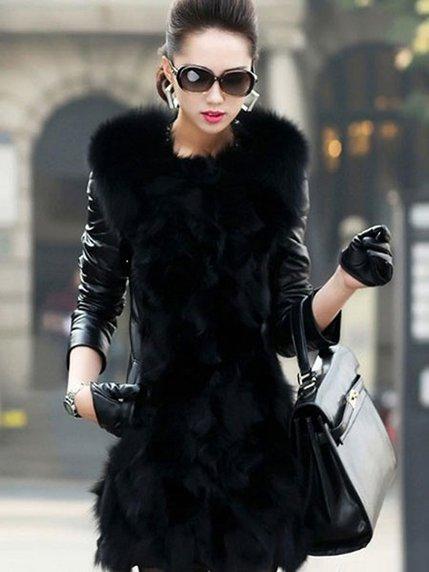 Пальто чорне Maxmore 3576555