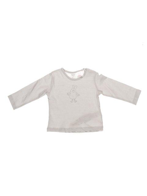 Лонгслів білий в принт Zara Kids 3604948