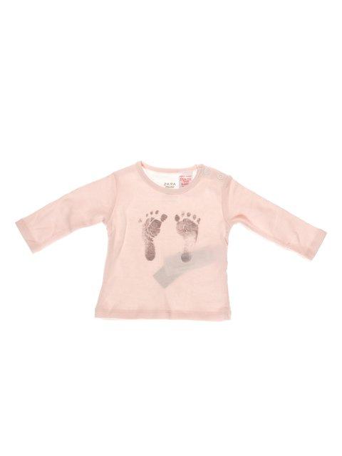 Лонгслів рожевий в принт Zara Kids 3604992