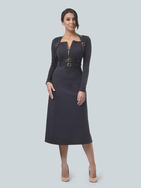 Платье графитового цвета LILA KASS 3683576