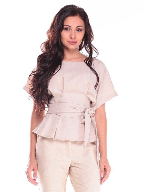 Блуза бежева Laura Bettini 3687793