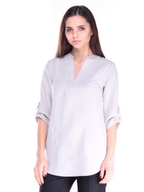 Блуза бело-серого цвета Laura Bettini 3687819