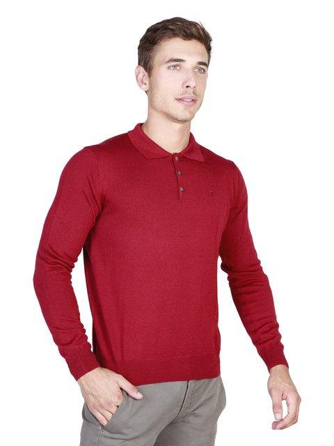 Джемпер-поло червоний Trussardi 3688867