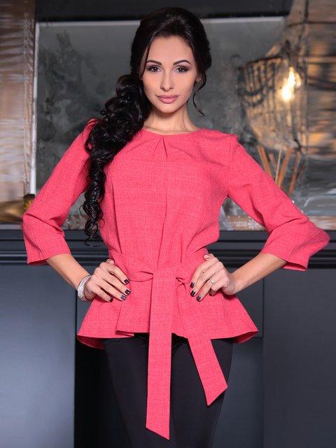 Блуза кольору червоний корал Rebecca Tatti 3692815